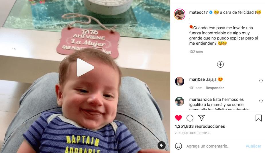 Los videos más tiernos de Mateo Carvajal y su hijo Salvador / @mateoc17