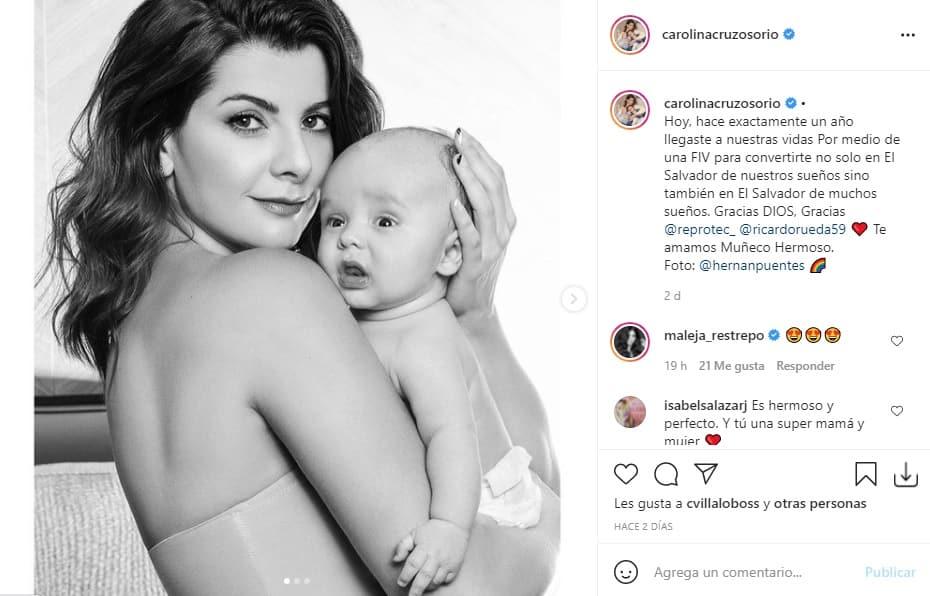 Carolina Cruz celeración embarazo 2
