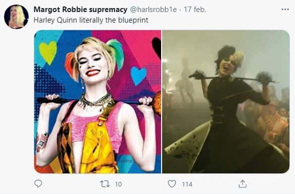 Fanáticos comparan a 'Cruella' con 'Harley Quinn'