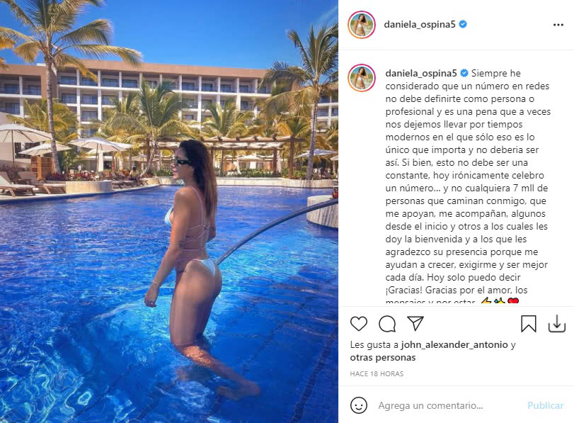 Daniela Ospina Siete millones seguidores 2