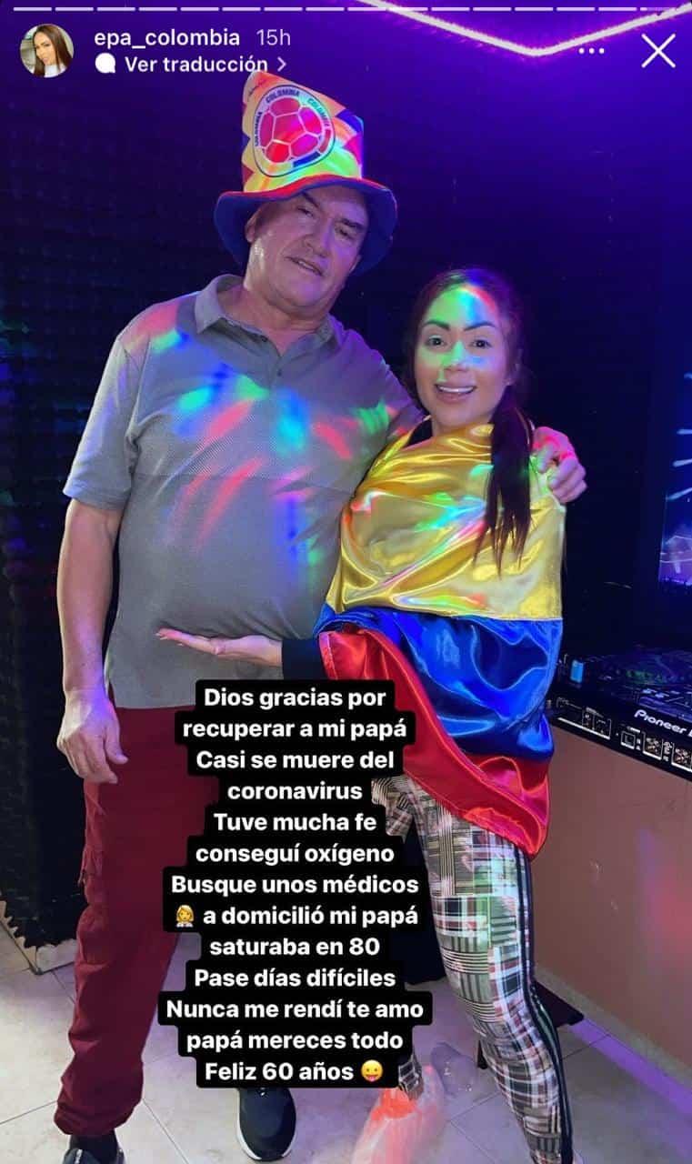 Con conmovedor mensaje, Epa Colombia agradece por la salud de su padre