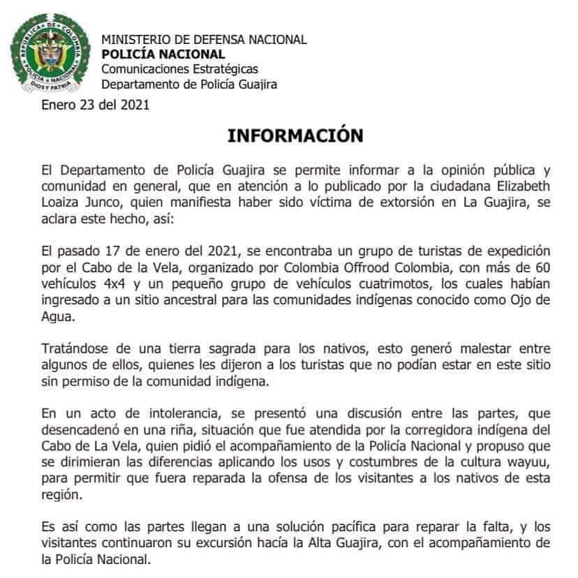 Autoridades desmienten supuesto secuestro a Elizabeth Loaiza