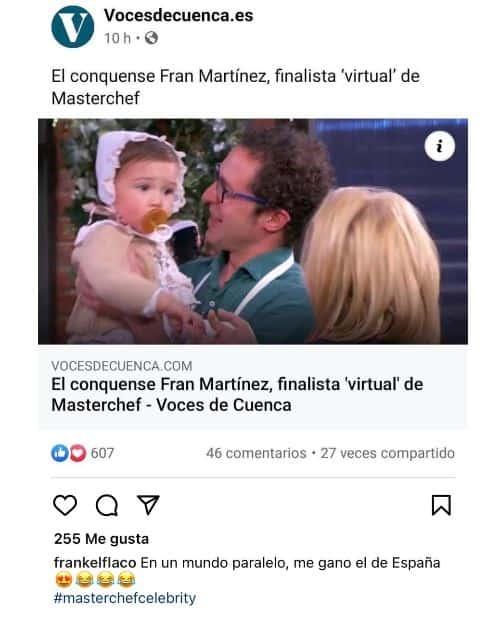 Frank Martínez en MasterChef