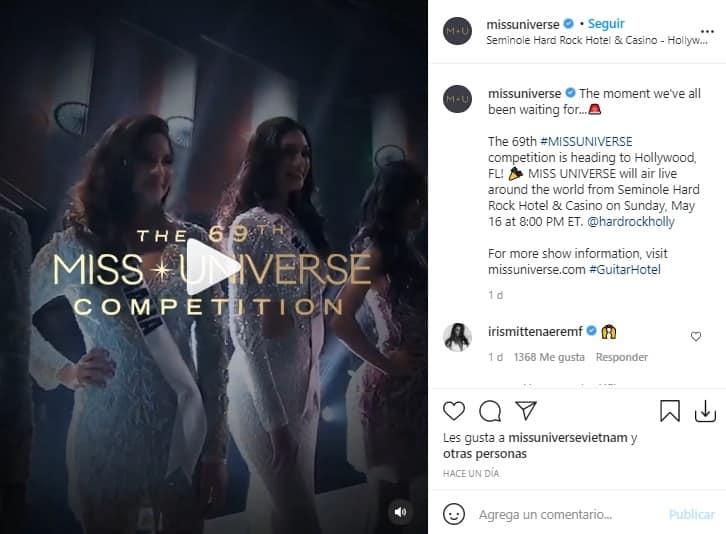 Fecha Miss Universo 2