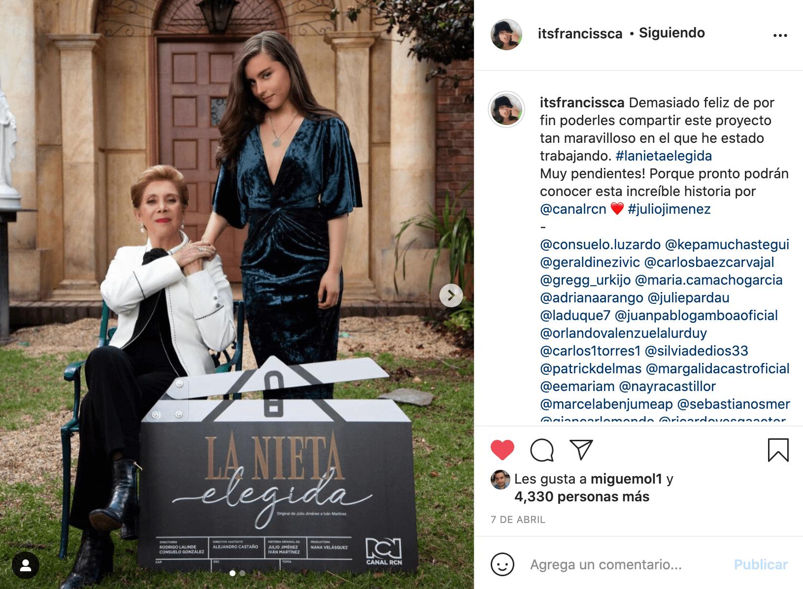 Francisca Estévez, emocionada de protagonizar La Nieta Elegida