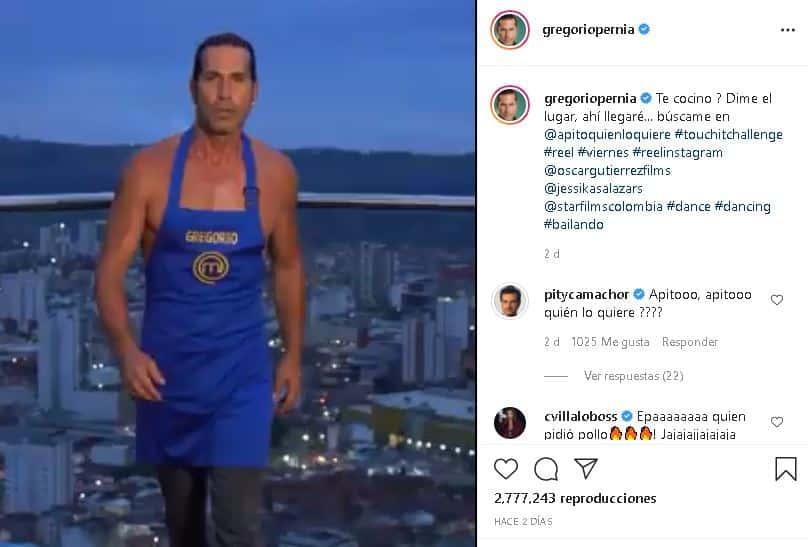 Gregorio Pernía en MasterChef Celebrity