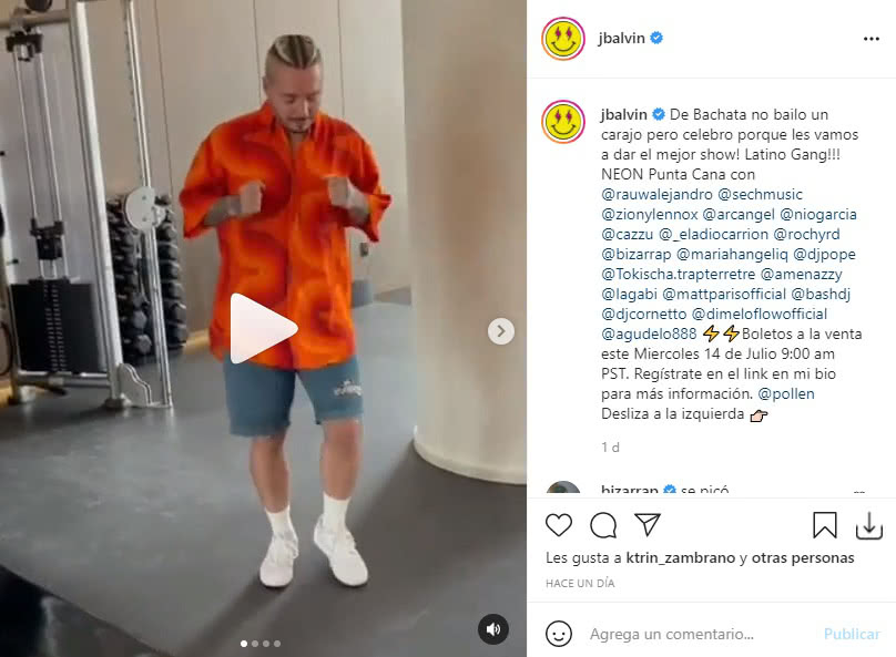 J Balvin bailando bachata 2