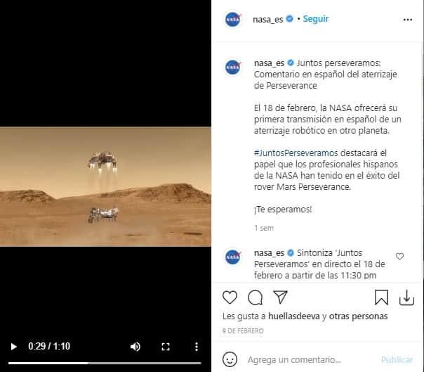 Juanes Transmision NASA 2