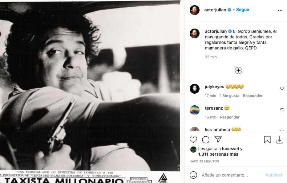 Julián Arango reacciona tras la partida de El Gordo Benjumea