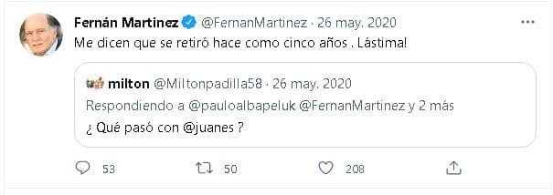 Fernán Martínez en twitter