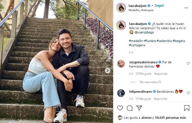 Laura Barjum posa con Diego Sáenz