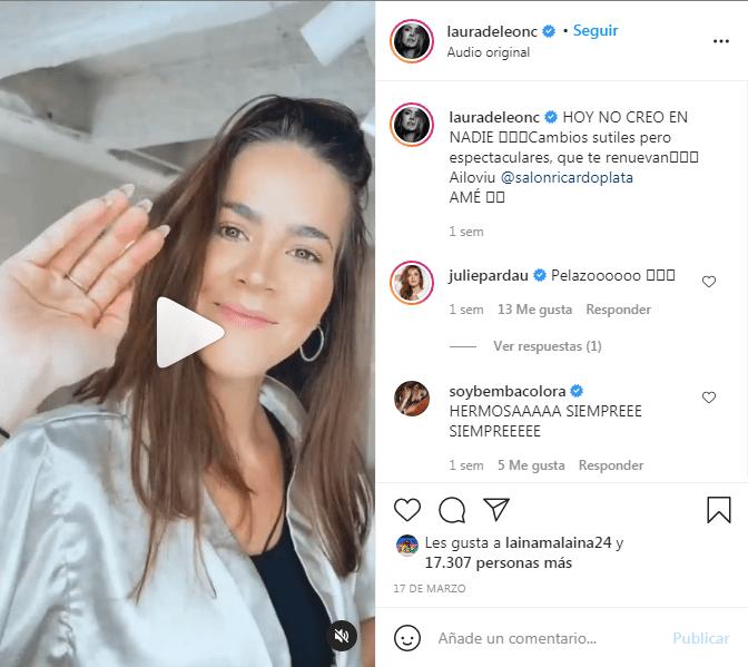 Laura de León cambio de look 1