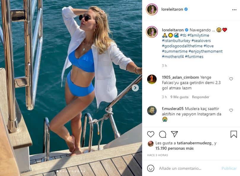 Esposa de Falcao vuelve a sorprender con diminuto traje de baño