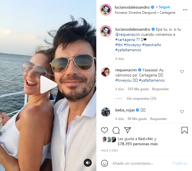 Luciano y su novia en Cartagena