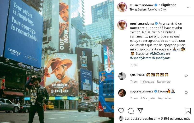 Mando en el Times Square