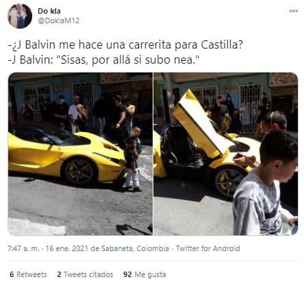 Meme Balvin Ferrari 4