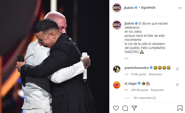 Mensaje J Balvin a Daddy Yankee 1
