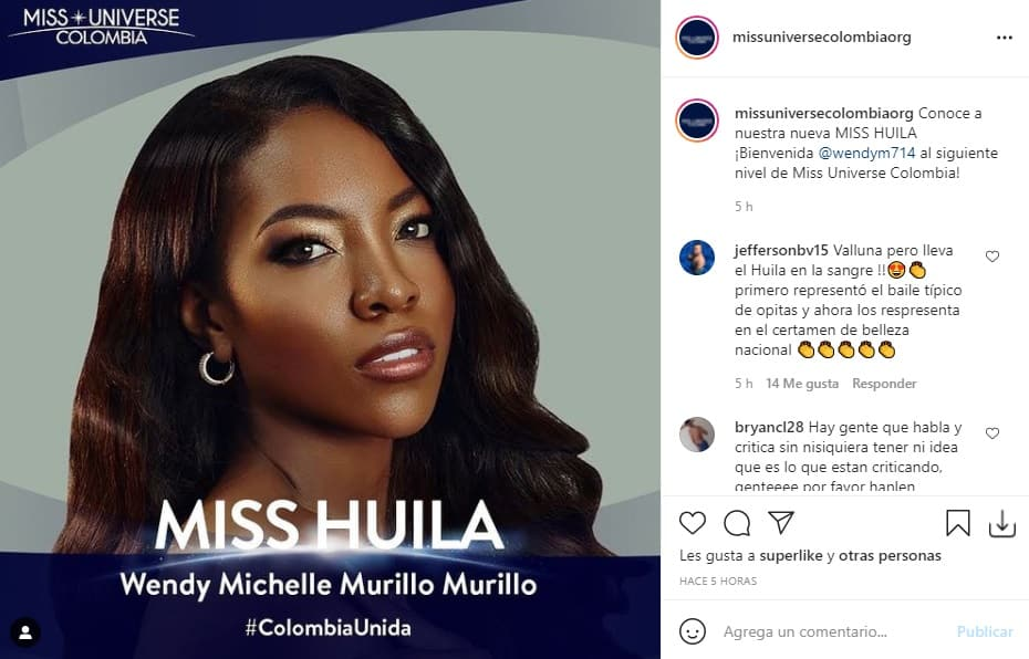 Miss Universe Colombia 2021 Huila