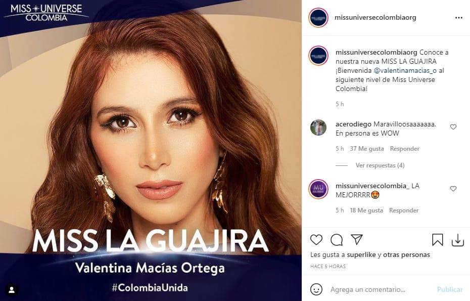 Miss Universe Colombia 2021 La Guajira