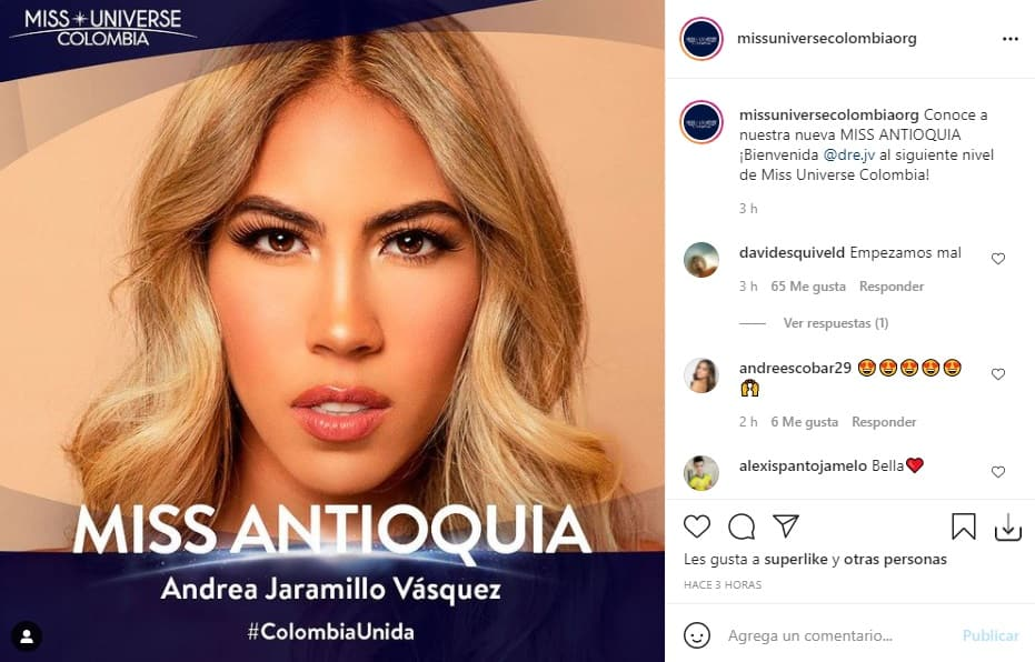 Miss Universe Colombia Antioquia