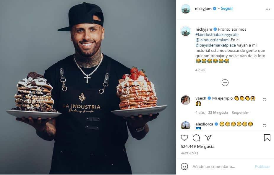 Nicky Jam planea abrir restaurante en Miami