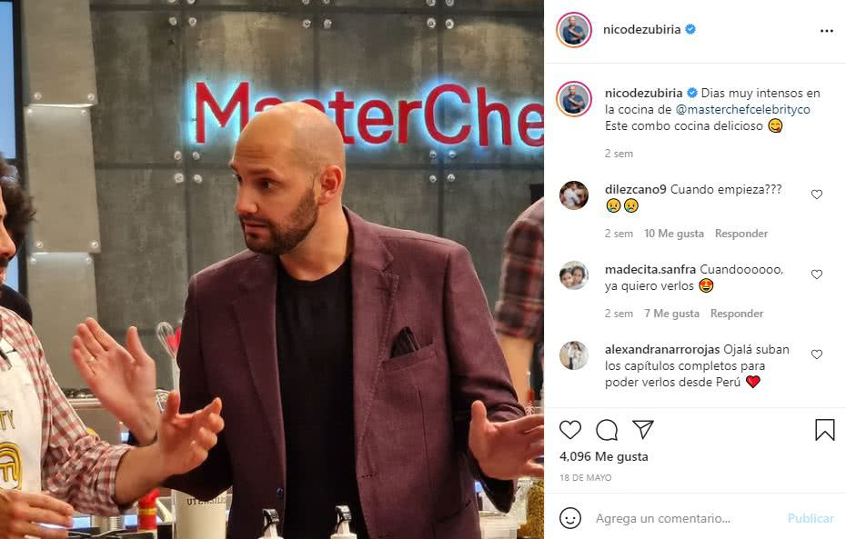 Nicolás de Zubiría, jurado de MasterChef Celebrity