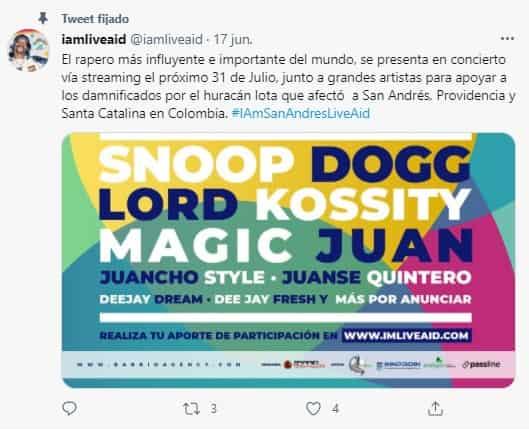 Snoop Dog en I Am San Andrés - Live AID 2