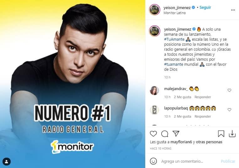 Yeison Jimenez Listados colombianos2