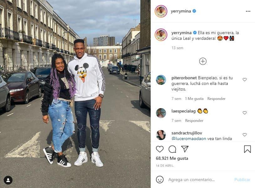 Yerry Mina y su pareja Yeraldine Molina confirman que serán padres