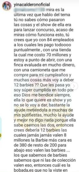 Yina Calderón Munecas Barbies 2