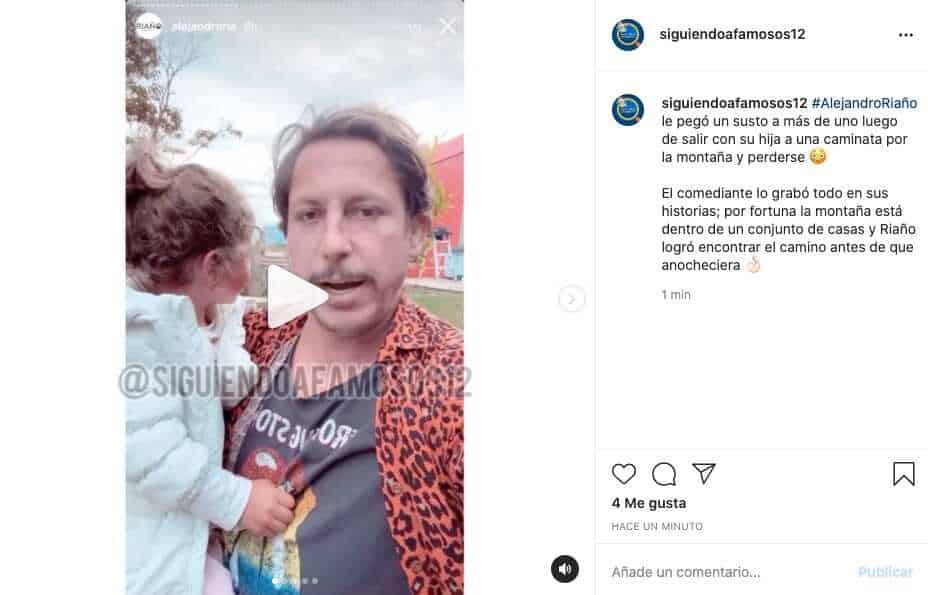 Alejandro Riaño relata la experiencia que tuvo con su hija al perderse en una montaña