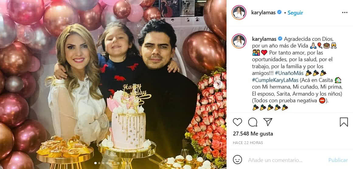 Ana Karina Soto celebra su cumpleaños 41