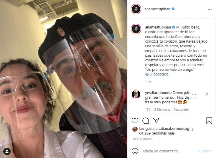 Ana María Estupiñán foto con Julio Sánchez