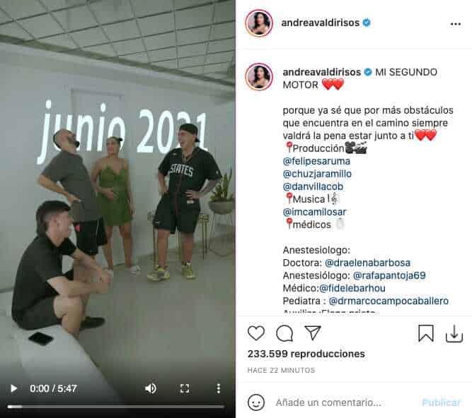 En video, Andrea Valdiri mostró el nacimiento de su segunda hija