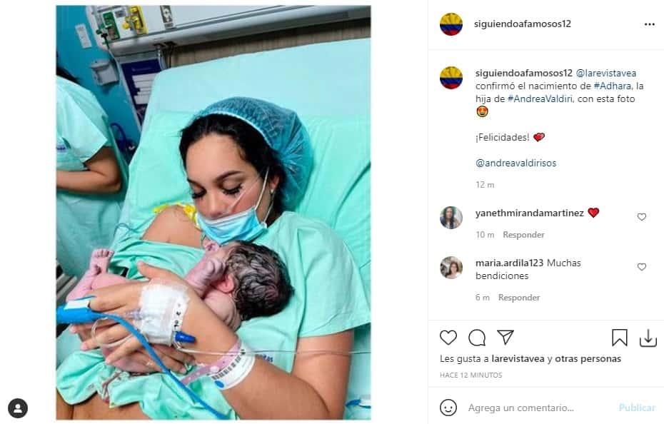 ¡Bienvenida, Adhara! Nació la hija de Andrea Valdiri y Lowe León
