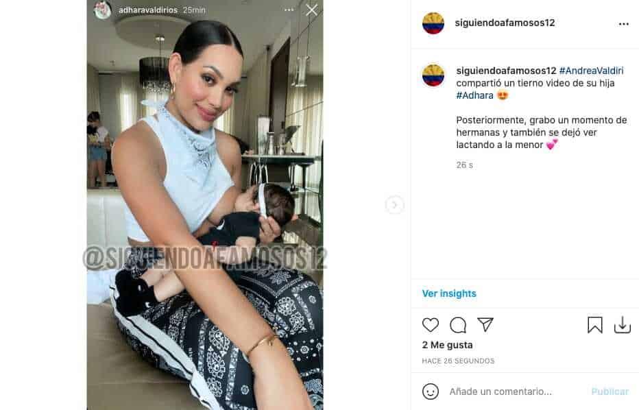 Andrea Valdiri compartió tierno video de Adhara y fans notan parecido con su hermana