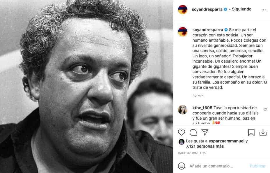 Andrés Parra reacciona tras la partida de El Gordo Benjumea