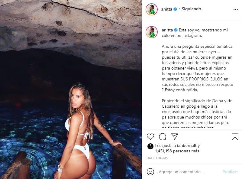 anitta responde a arcangel luciendo bikini