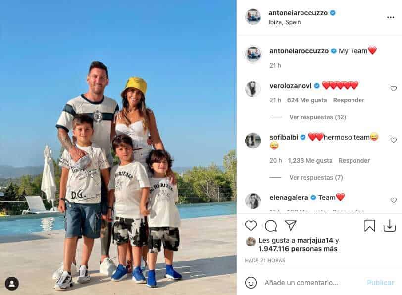 Esposa de Messi da a conocer cuál es su equipo favorito