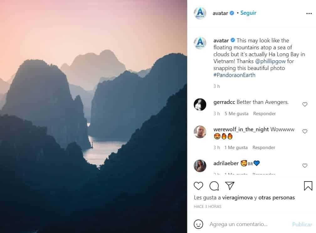 Avatar subió a la cima de la taquilla mundial.