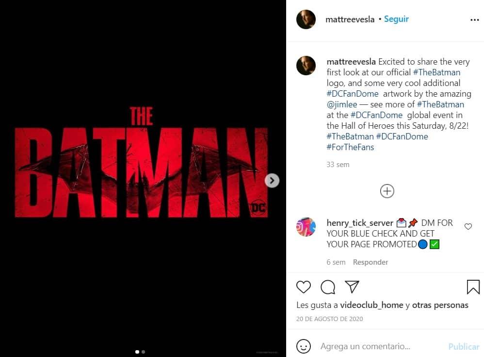 Matt Reeves es el director de esta nueva entrega de Batman