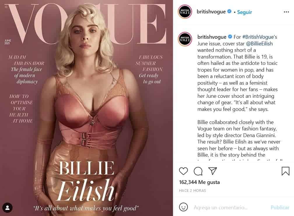 Billie Eilish en Vogue