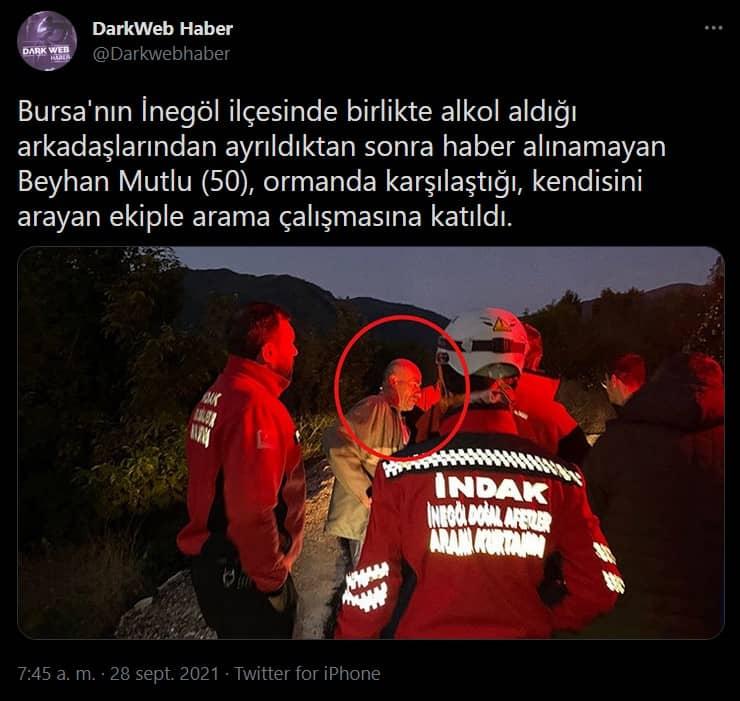 Borracho desaparecido en Turquía