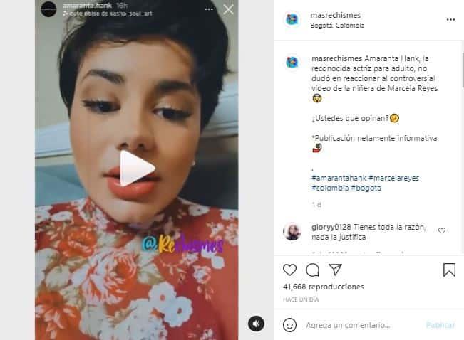 La actriz criticó con dureza la actitud de Marcela en el video.