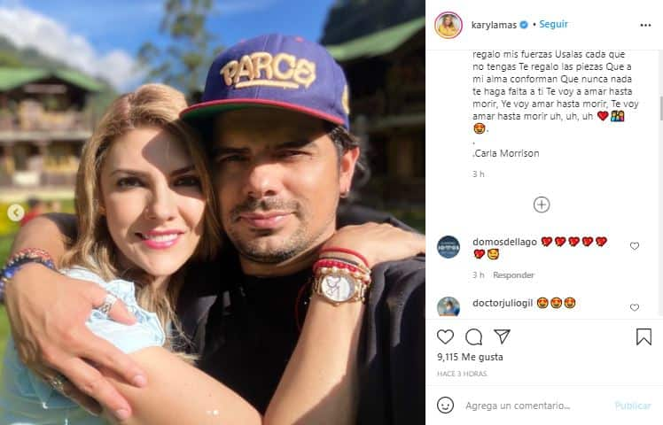 Ana Karina Soto dedicó amoroso mensaje a su esposo