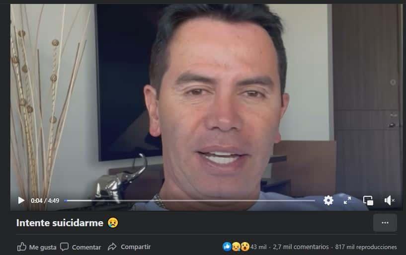 Jhonny Rivera contó la anécdota a través de su Facebook.