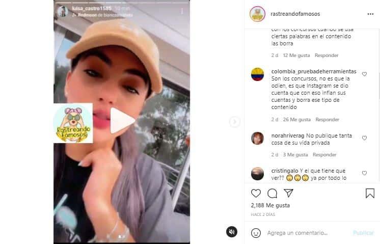 Tras denuncias de Luisa Castro, su cuenta de Instagram fue cerrada