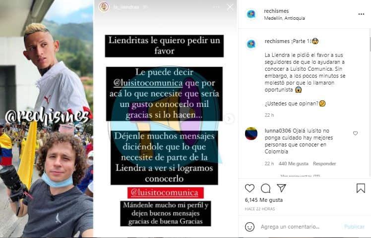 La Liendra pidió ayuda a sus seguidores, pero terminó recibiendo críticas.