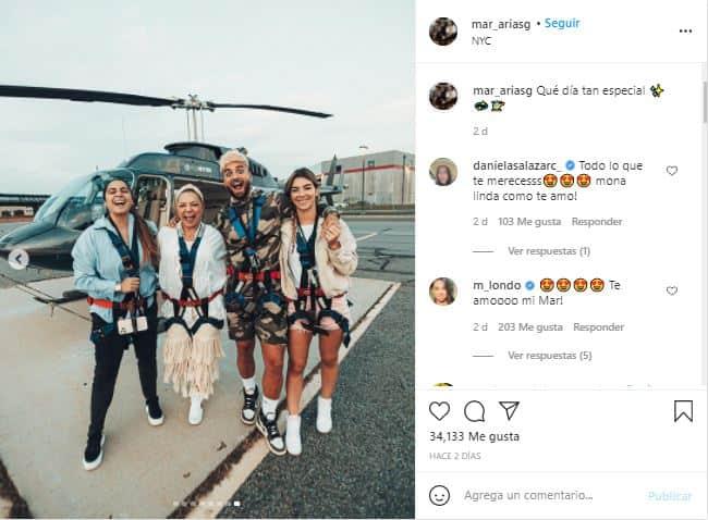 Esta vez fue la novia del artista, quien publicó una foto de la pareja.