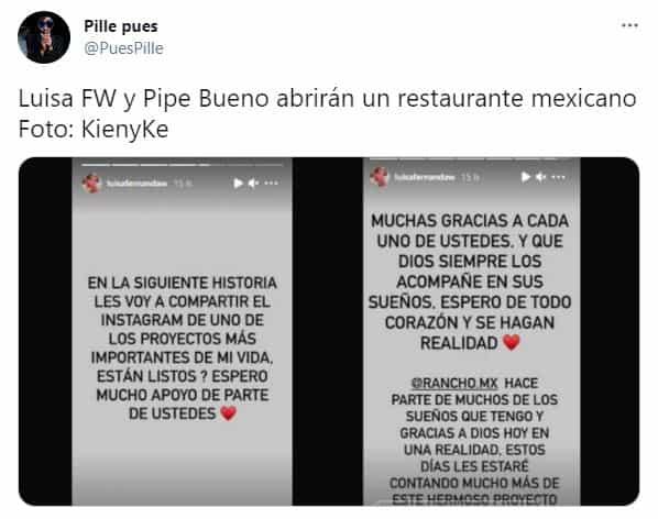 Luisa Fernanda W y Pipe Bueno dieron detalles de su nuevo restaurante